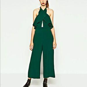 🆕 ZARA - Cross over backless jumpsuit